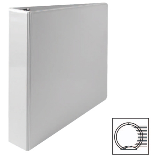 Cartable à reliure à anneaux ronds de 1 1/2 po de première qualité de Sparco (SPR19651) - Blanc