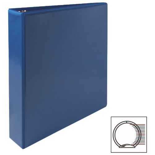 "Sparco 1 1/2"" Premium Round Ring View Binder (SPR19652) - Blue"