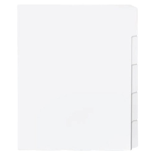 Sparco Tab Dividers (SPR21002) - 50 Pack - White