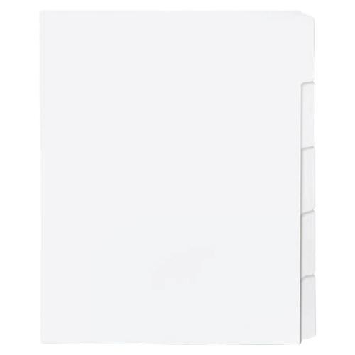 Intercalaires à onglets de Sparco (SPR21002) - Paquet de 50 - Blanc