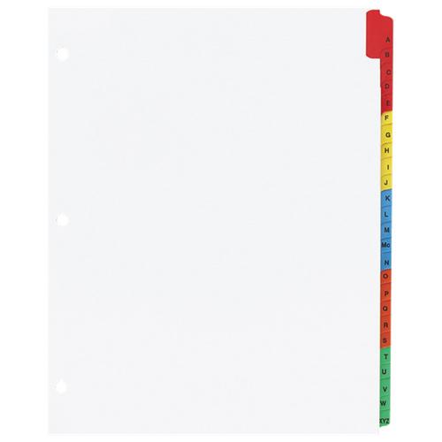Intercalaires à onglets de Sparco (SPR21905) - Paquet de 25 - Blanc
