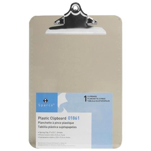 Planchette en plastique 9 x 12,5 po de Sparco (SPR01861) - Fumée