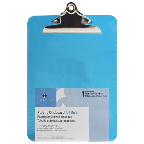 Planchette en plastique 9 x 12,5 po de Sparco (SPR01863) - Bleu