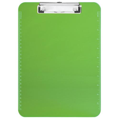 "Sparco 9"" x 12.5"" Low Profile Plastic Clipboard (SPR01867) - Green"