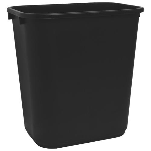 Corbeille rectangulaire de 26,5 L de Sparco (SPR02160) - Noir