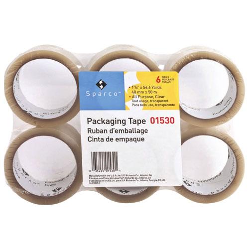 Ruban tout usage transparent robuste de Sparco (SPR01530) - Paquet de 36 - Transparent