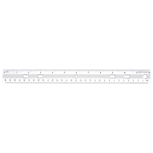 "Sparco 12"" Standard Metric Ruler (SPR01488) - Clear"