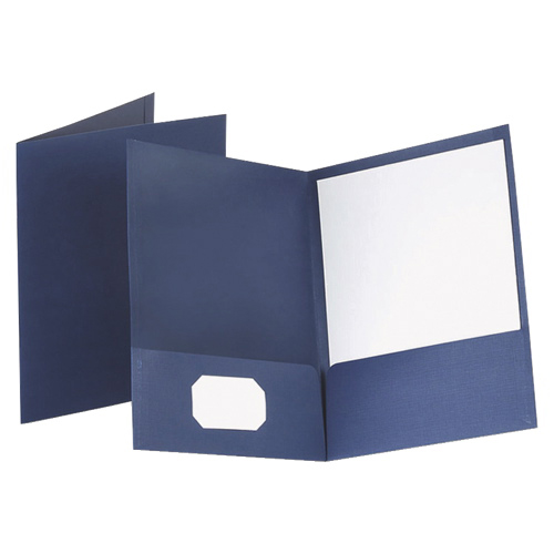 "Esselte 8.5"" x 11"" Twin Pocket Portfolio (ESS53443) - 25 Pack - Blue"