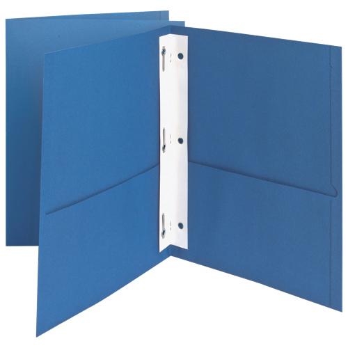 Protège-documents à reliure 8,5 x 11 po Twin-Pocket d'Oxford (ESS57701) - Paquet de 25 - Bleu pâle