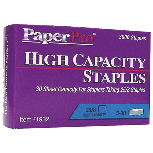 PaperPro High Capacity 25/8 Staples - 3000 Pack