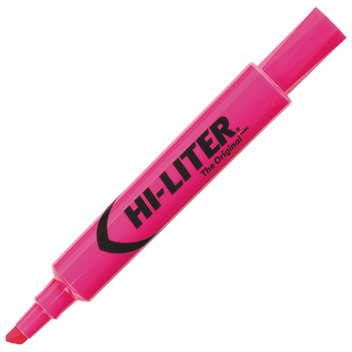 Avery Hi-Liter Chisel Point Highlighter (AVEC83509) - Pink