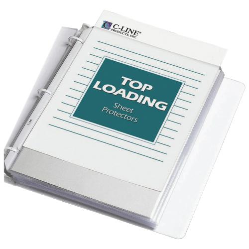 Protège-documents en polypropylène robuste de C-Line (CLI62023) - Paquet de 100 - Transparent