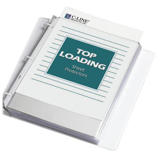 Protège-documents en polypropylène robuste de C-Line (CLI62097) - Paquet de 200 - Transparent