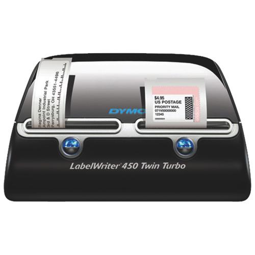 Dymo Sanford LabelWriter 450 Twin Turbo Direct Thermal Transfer Printer (DYM1756694) - Black