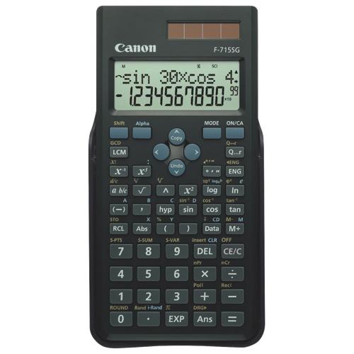 Calculatrice scientifique à écran de 2 lignes et 12 chiffres de Canon