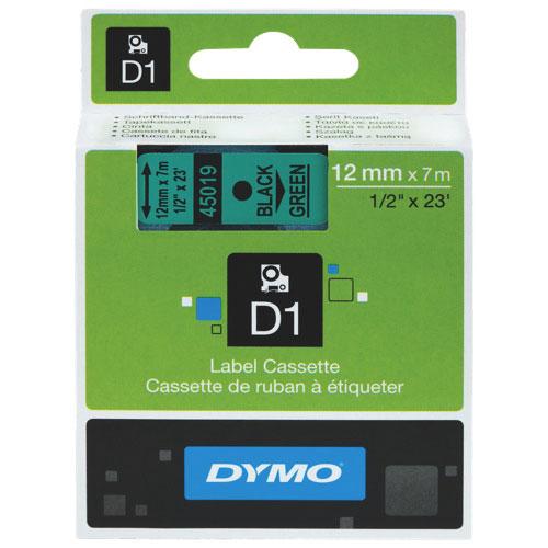 "Dymo 1/2"" x 23 ft Electronic Tape Cartridge (DYM45019) - Black/Green"