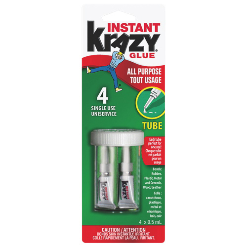 Elmer's Single-Use Tube Krazy Glue (EPI6155010582) - 4 x 0.5 ml