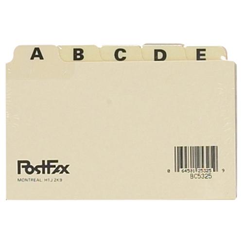 Esselte A-Z Index Card File Guides (ESSB5325) - 25 Pack - Manilla