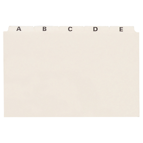Esselte A-Z Index Card File Guides (ESSB8525) - 25 Pack - Manilla