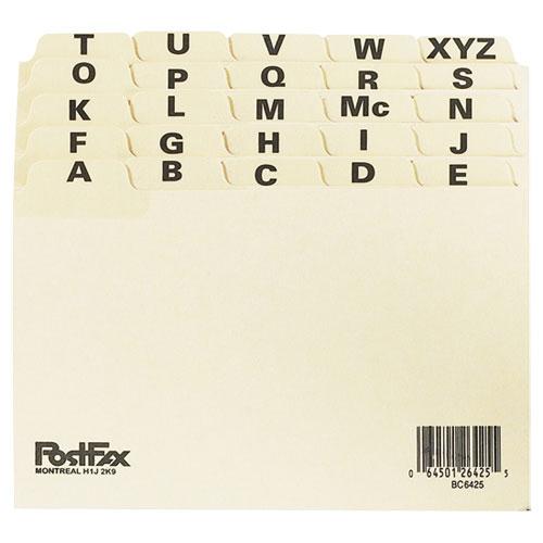 """Esselte 5"""" x 8"""" A-Z Index Card File Guide (ESSBC8525) - 25 Pack"""