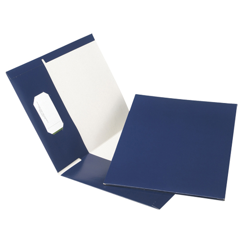 Esselte Pocket Folders (ESSPPF-DBN/B) - 25 Pack - Blue