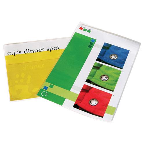 Pochette lustrée de laminage de 12 x 18 po de Fellowes pour menus (FEL52011) - Paquet de 25
