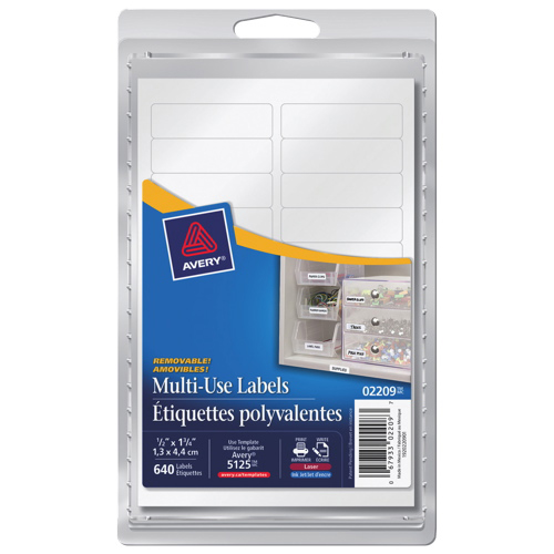 avery 1 2 x 1 3 4 multi use labels ave02209 640 pack