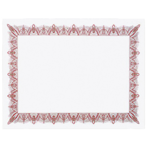 Royal Blank Certificate with Decorative Border (GEO39086) - Letter - Red