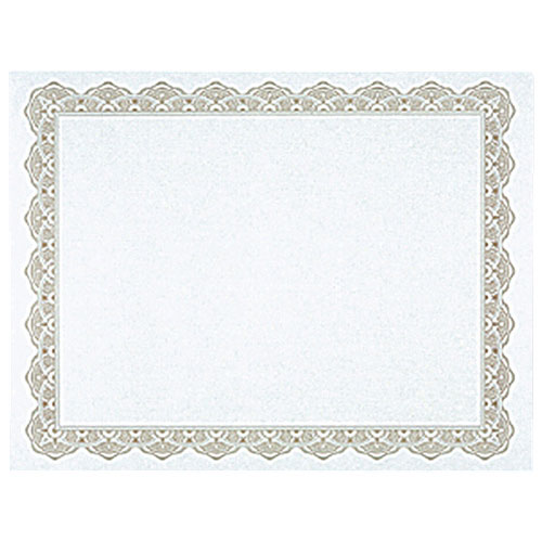 Royal Blank Certificate with Decorative Border (GEO39451) - Letter - Gold
