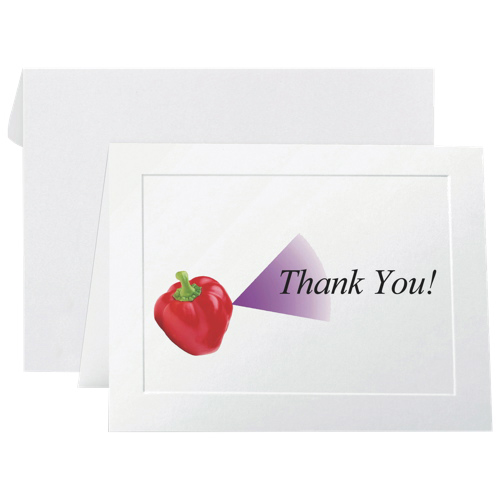 """First Base 4.25"""" x 5.5"""" Fold-Over Note Card (FST71020) - 40 Pack - White"""