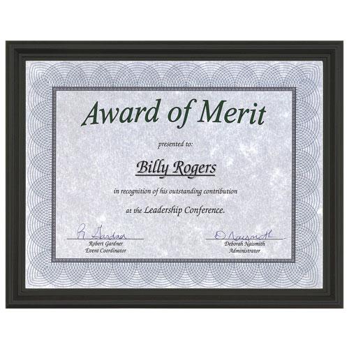 First Base Recognition Certificate Frame (FST83904) - Black