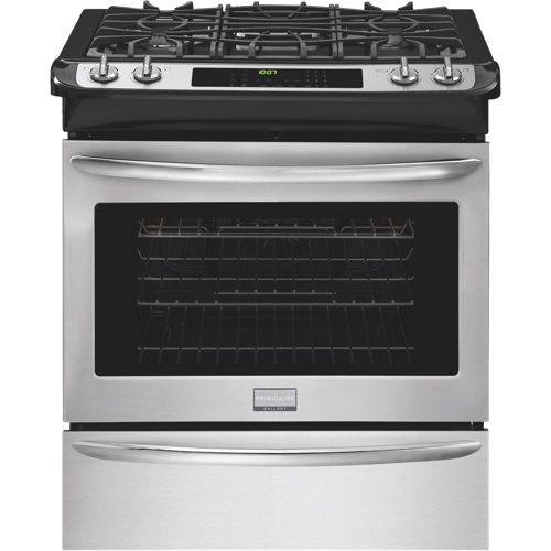 Frigidaire Gallery 4.5 Cu. Ft. Self Clean Convection Slide-In Gas Range (FGGS3065PF)-Stainless Steel