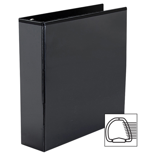 "Avery 2"" Heavy-Duty One Touch D-Ring View Binder (AVE79-692) - Black"
