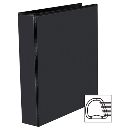 "Avery Heavy-Duty 1-1/2"" One-Touch D-Ring View Binder (AVE79-695) - Black"