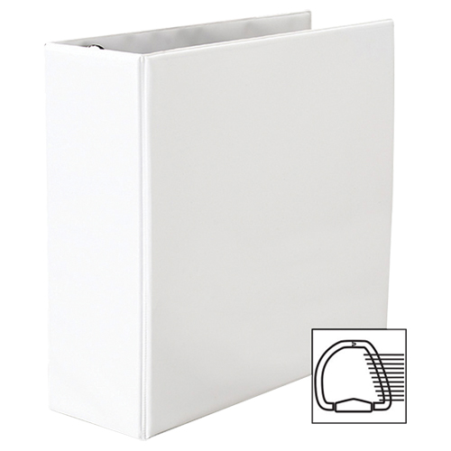 """Avery 4"""" Heavy Duty One Touch D-Ring Vew Binder (AVE79-704) - White"""