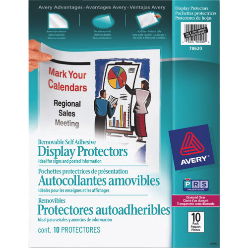 Avery Removable Self Adhesive Display Protector (AVE78620) - 10 Pack