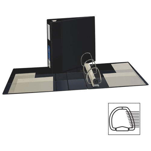 "Avery 4"" Heavy-Duty One Touch D-Ring Binder (AVE79-994) - Black"