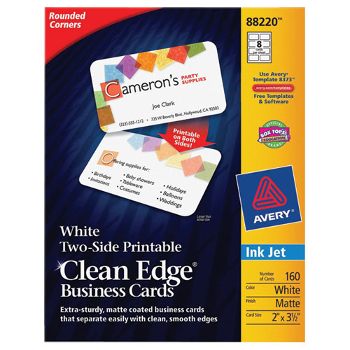 Avery clean edge business cards ave88220 160 pack white avery clean edge business cards ave88220 160 pack white reheart Gallery