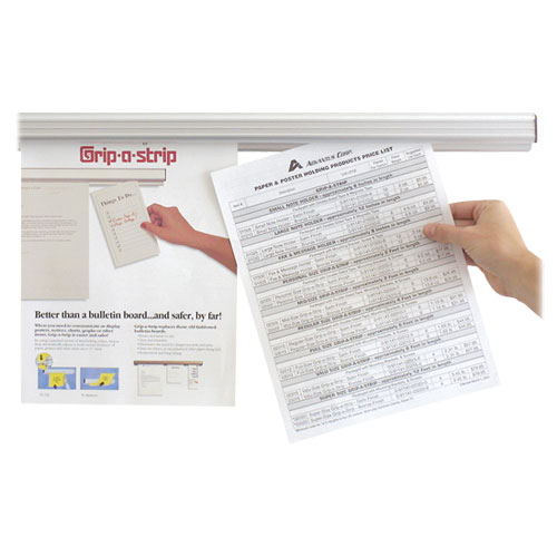 Advantus Grip-a-Strip Display Rail (AVT2010) - White