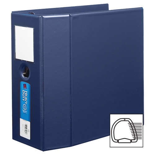 "Avery 5"" Heavy-Duty One Touch D-Ring Binder (AVE79-980) - Navy Blue"