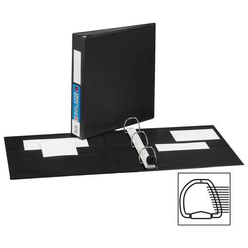 "Avery 1-1/2"" Heavy-Duty One Touch D-Ring Binder (AVE79-991) - Black"