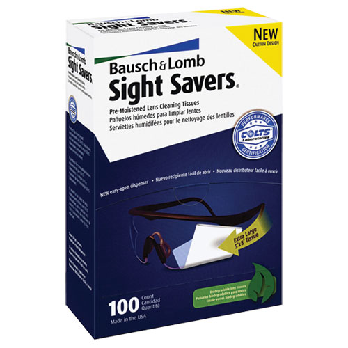 Bausch & Lomb Sight Savers Pre-Moistened Lens Cleaning Tissue (BAL8574GM) - 100 Sheets