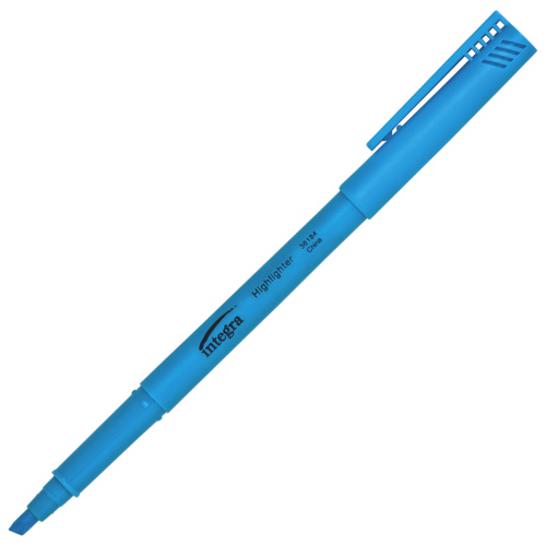 Integra Chisel Point Highlighter (ITA36184) - 12 Pack - Blue
