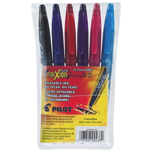 Pilot FriXion Erasable Rollerball 0.7mm Gel Pen (PIL004382) - 6 Pack