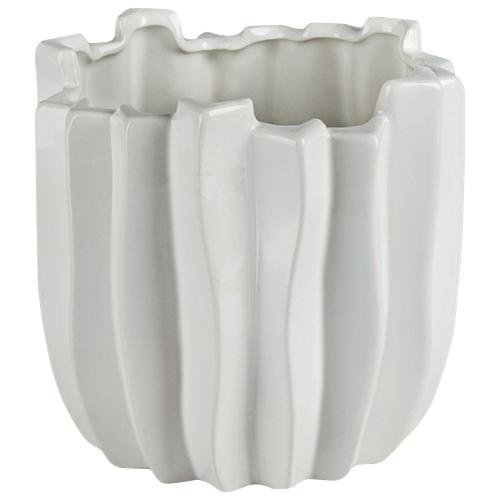Jardinière en céramique Cactus de Brilliant (2507.060.16) - Blanc