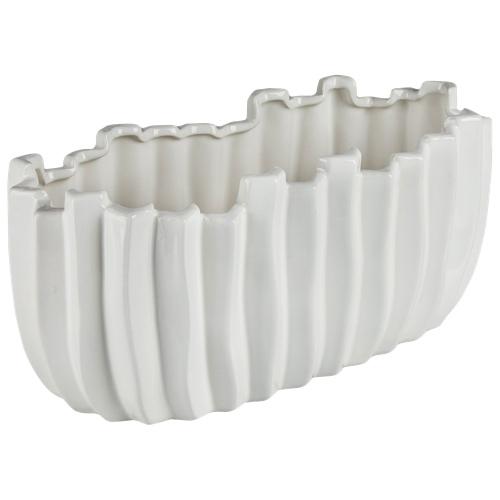 Jardinière longue en céramique Cactus de Brilliant (2507.060.33) - Blanc