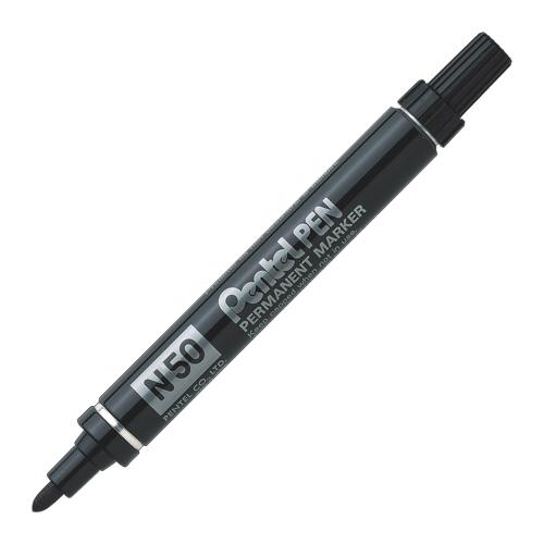 Pentel Stationary 4.3mm Bullet Point Permanent Marker (PENN50-A) - Black