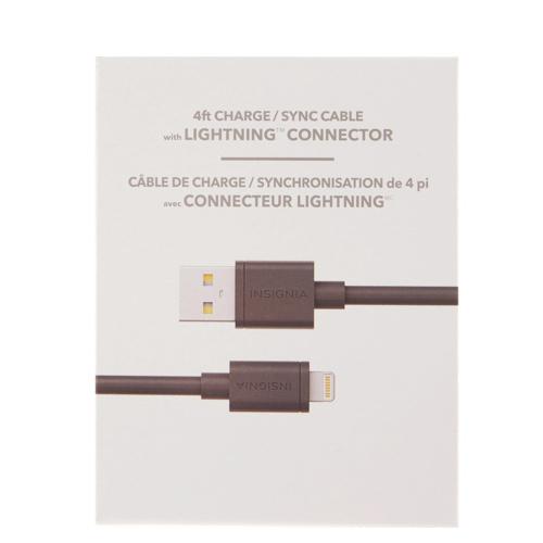 Câble USB Lightning de 1,2 m (4 pi) d'Insignia (NS-FA5SC-C) - Noir