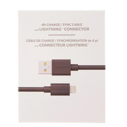 Câble de chargement et synchronisation Lightning USB de 1,2 m (4 pi) d'Insignia (NS-TFA5SC-C)