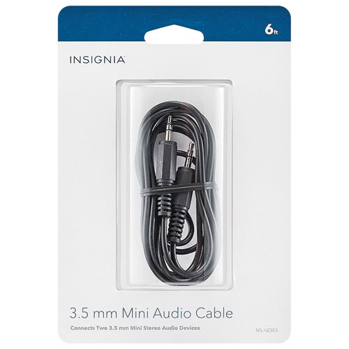 Insignia 1.8m (6 ft.) 3.5mm Stereo Audio Cable (NS-HZ303-C)